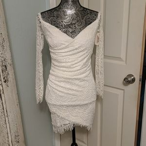 NWT Lovecat for Forever 21 white lace dress